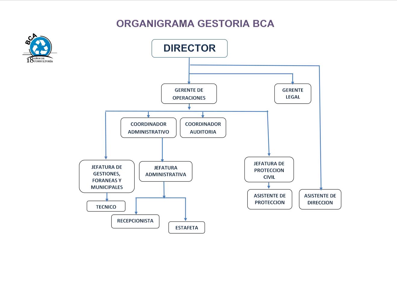 Organigrama Gestoría BCA